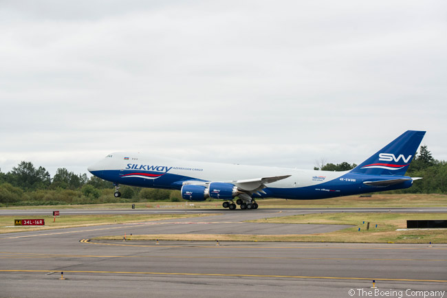 In August 2014, Baku, Azerbaijan-based cargo carrier Silk Way Airlines took delivery of two Boeing 747-8 Freighters it had ordered. The second aircraft was delivered on August 28