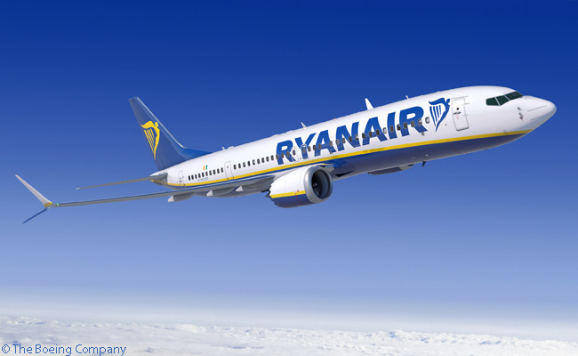 Ryanair, Europe's largest low-cost carrier, is to be the first airline to operate the Boeing 737 MAX 200, a 737 MAX 8 variant that can accommodate up to 200 seats. Ryanair announced on September 8, 2014 that it had agreed a commitment for 100 aircraft and secured options on 100 more. This computer graphic image shows a 737 MAX 200 in Ryanair livery