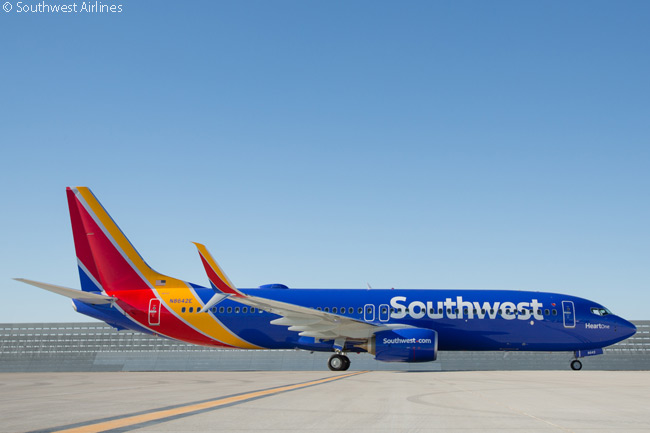 On September 8, 2014, Southwest Airlines unveiled to its employees a new aircraft livery, corporate logo and redesign of its airport facilities