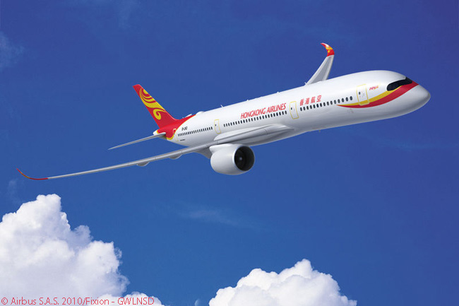 In 2010, Hong Kong Airlines finalized a contract with Airbus converting an existing order for 15 A330s to specify A350-900s instead