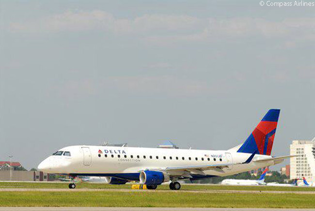 The 76-seat Embraer 175 is the backbone of the Compass Airlines fleet, the regional carrier operating Embraer 175s both for Delta Air Lines and for American Airlines