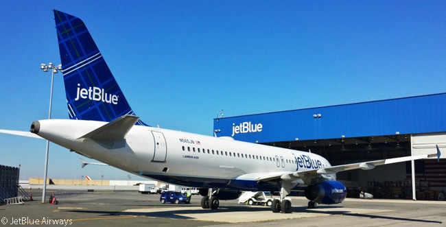 On September 24, 2014, JetBlue Airways unveiled its new 'Tartan' aircraft tailfin paint scheme, adding to nine other tailfin paint schemes on different aircraft in its fleet. JetBlue also operates a few aircraft painted in specially themed liveries