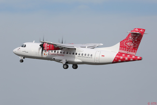 Indonesian carrier TransNusa Aviation Mandiri took delivery of its first ATR 42-600 on September 25, 2014. TransNusa Aviation had also optioned three additional ATR 42-600s