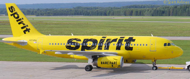 Spirit Airlines unveiled a new, all-yellow livery with bold black titles on September 16, 2014. The carrier intended for most or all of the aircraft in its fleet to wear the new colors and titles, which are intended to emphasize its status as an ultra-low-cost carrier