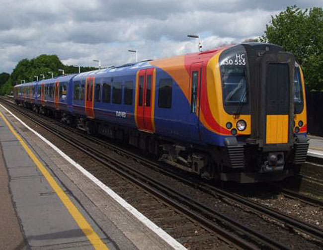 Southwest Airlines' new livery is remarkably like that which some electric commuter trains of the Stagecoach-owned South West Trains railway company sport. The trains operate on routes between central London and suburbs in the southern and western parts of Greater London. Despite the similarity of the names and liveries, there are no known ownership ties between the airline and the rail company