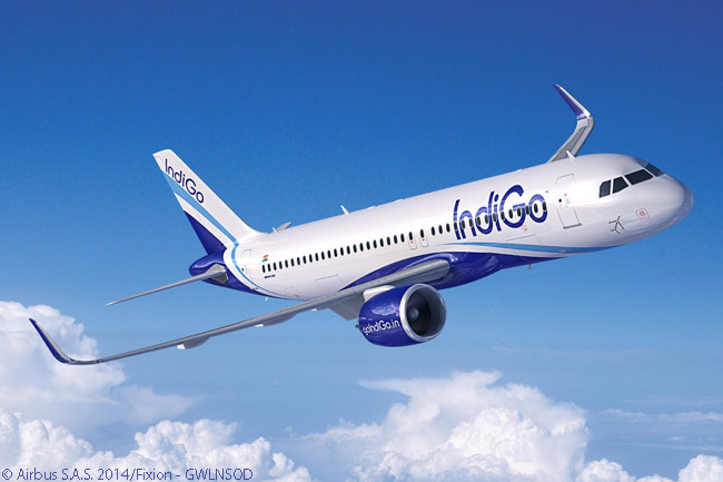 On October 15, 2014, Indian carrier IndiGo signed a memorandum of understanding for 250 Airbus A320neo-family jets. IndiGo firmed the order on August 15, 2015, bringing its total orders for A320-family jets to 530 aircraft