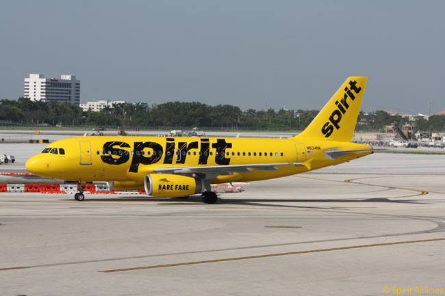 Its new livery, adopted in the second half of 2014, makes Spirit Airlines' aircraft hard to miss (and quite hard on the eyes) at the airports it serves