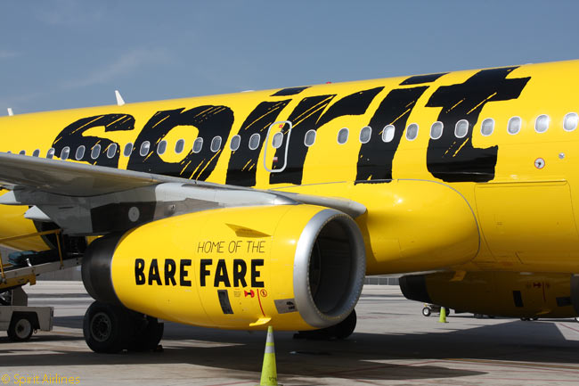 Some people think Spirit Airlines' brash new livery is rather ugly. It is certainly noticeable