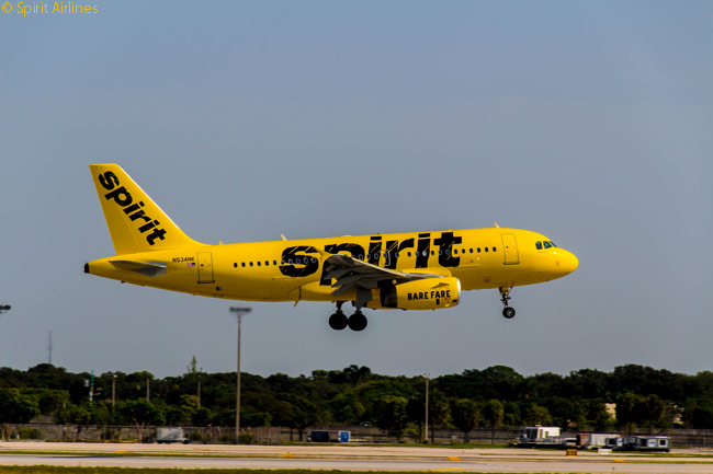 Spirit Airlines adopted a brash new aircraft livery in the latter half of 2014 to reinforce its low-cost, cheap fare image