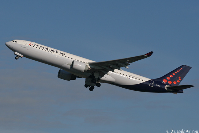 The Airbus A330-300 is the largest aircraft type in Brussels Airlines' fleet