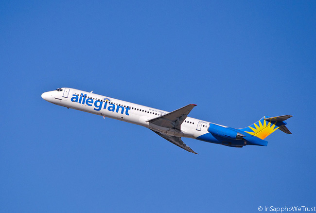 Allegiant Air McDonnell Douglas MD-83 N418NV takes off
