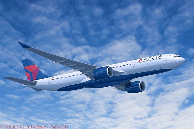 Delta Air Lines ordered 25 Airbus A330-900neos on November 20, 2014, reportedly for its transatlantic network. At the same time, the carrier ordered 25 Airbus A350-900s, reportedly for its transpacific network