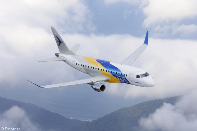The Embraer 175 has become the highest-selling version of the first-generation Embraer E-Jets family, mainly because its seat capacity in typical two-class configuration is 76 seats. This, together with the Embraer 175's excellent runway performance and range characteristics, makes it ideal as an aircraft which the scope clauses in the pilot labor agreements of major U.S. carriers allow lower-cost regional airlines to operate on behalf of the majors