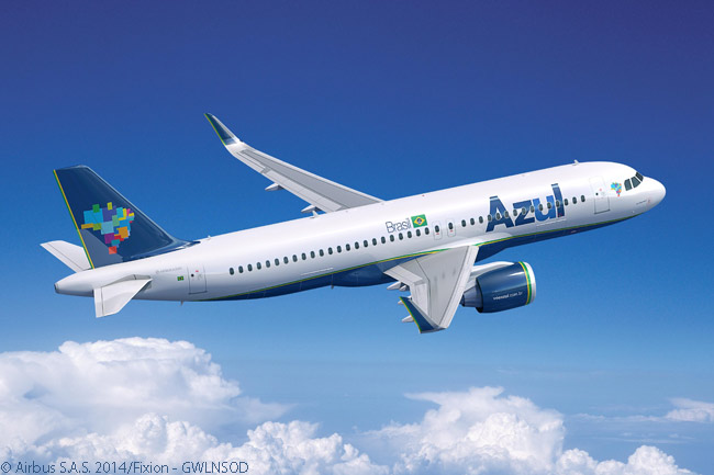 On November 28, 2014, engine-maker CFM International officially confirmed that Azul Linhas Aéreas Brasileiras had ordered 35 Airbus A320neo jets and had agreed to lease 28 more, 20 of which would come from lessor AerCap Holdings and eight from GECAS. All 63 aircraft would be powered by CFM International LEAP-1A engines