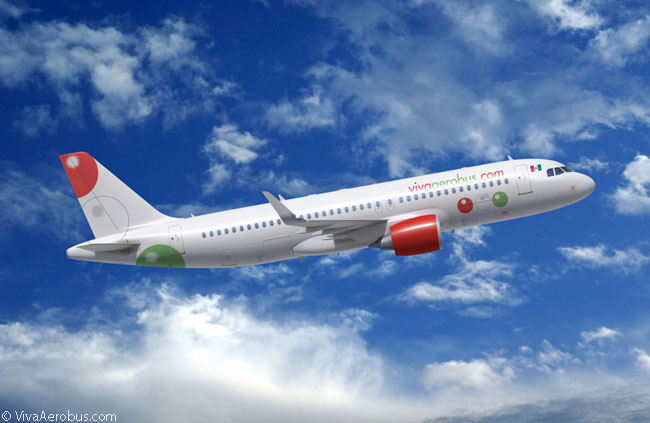 Although the livery of Mexican low-cost carrier VivaAerobus is mainly white, the livery designer has done a good job using spots of Mexico's national colors to make the livery distinctive