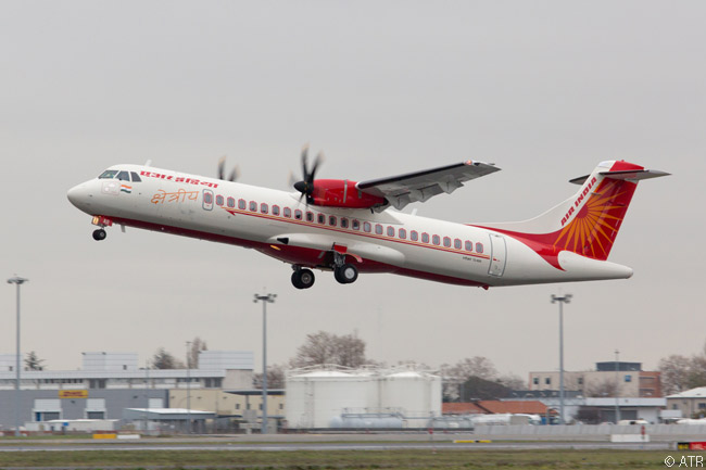 Air India's regional-airline subsidiary Alliance Air took delivery on December 16, 2014 of the first of five new ATR 72-600 turboprop regional airliners on lease from Singapore-based company Avation