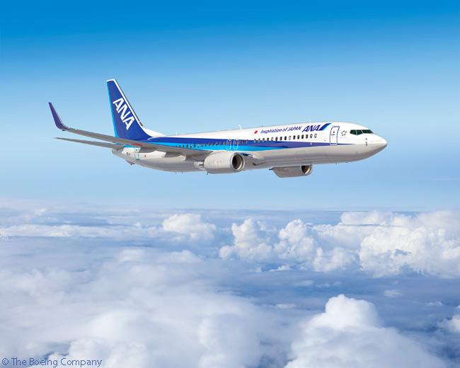 One of the world's largest airlines, Tokyo-based ANA ordered five Boeing 737-800s on January 30, 2015 to add it its growing narrowbody fleet
