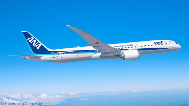 On January 30, 2015, Japan's All Nippon Airways announced it was intending to order three Boeing 787-10 Dreamliners to add to 80 787-8s and 787-9s already in service or on order