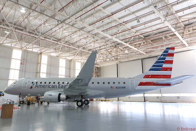 The first 20 of 60 Embraer 175s ordered by American Airlines in December 2013 are for operation by Compass Airlines, a subsidiary of Trans States Holdings. All the Embraer 175s flying on the American Eagle network (including aircraft ordered by other companies such as Republic Airways Holdings) fly in two-class configuration and each aircraft has 76 passenger seats installed