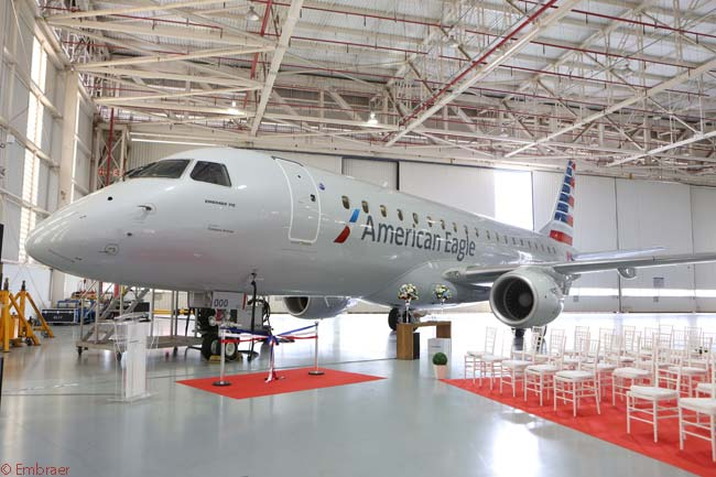 On February 11, 2015, American Airlines took delivery of the first of 60 Embraer 175s it ordered in December 2013, for operation under the American Eagle regional brand. American also took options on 90 more Embraer 175s