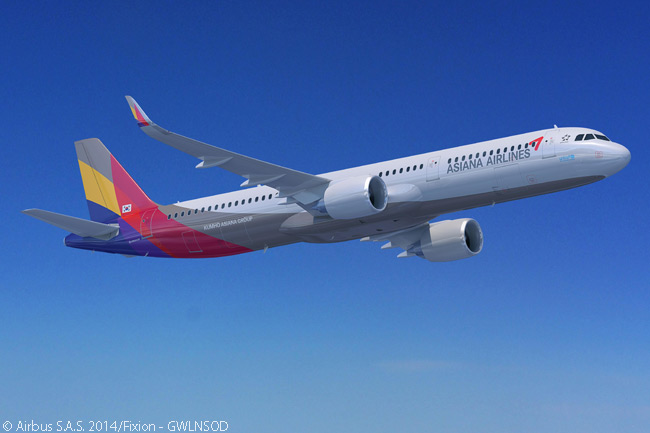 On February 11, 2015, Airbus announced that South Korea's Asiana Airlines had signed a letter of intent to order 25 A321neo single-aisle jets