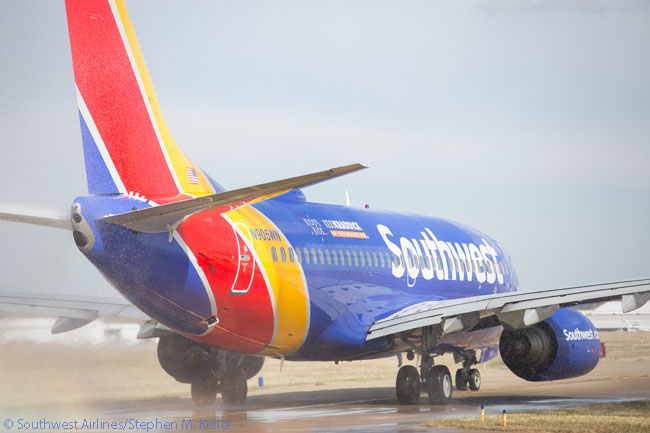 Southwest Airlines Boeing 737-700 N905WN is seen here operating a special flight on November 20, 2014 to take chronically and terminally ill children and their families to Disney World in Orlando for a free vacation, for the annual Kidd's Kids event run by the Kidd Kraddick Foundation