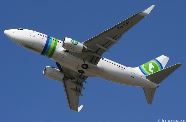 This Dutch-registered Boeing 737-700 of Transavia.com makes for a nice photographic subject as it takes off