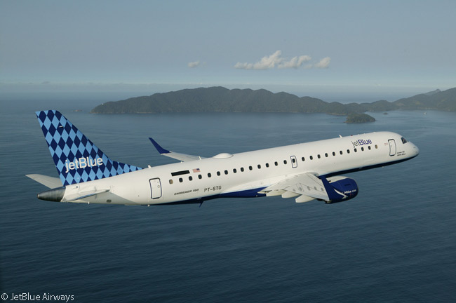 JetBlue Airways has long operated a fleet of 60 Embraer 190s and holds orders for 24 more, deliveries of which it has deferred out well into the future