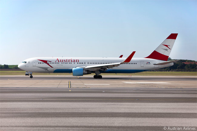Austrian uses the six Boeing 767-300ERs in its fleet to operate the less densely trafficked long-haul routes in its network and to launch new new long-haul routes, such as the Vienna-Mauritius service it scheduled for operation from late October 2015