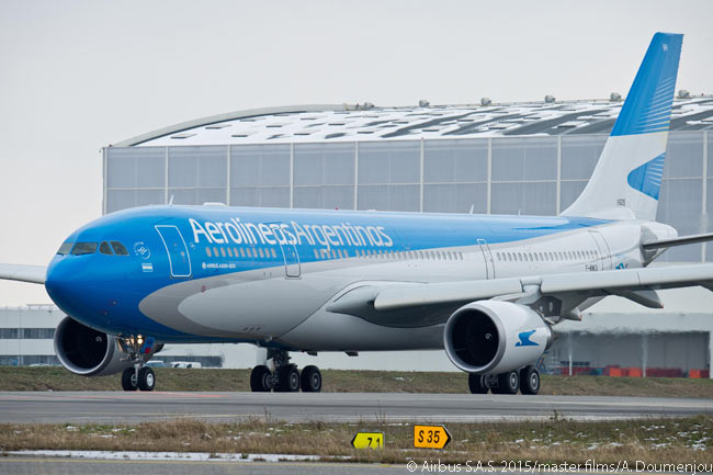 On March 2, 2015, Aerolineas Argentinas took delivery of the first of four new A330-200s it had ordered directly from Airbus