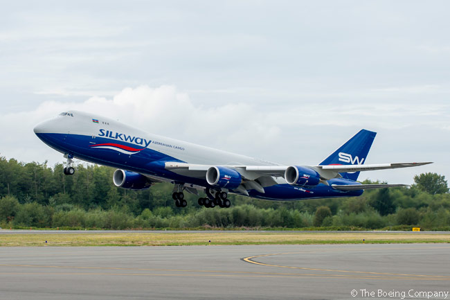 On March 3, 2015, Azerbaijan's Silk Way West Airlines placed an order for three Boeing 747-8 Freighters, to add to two already in service