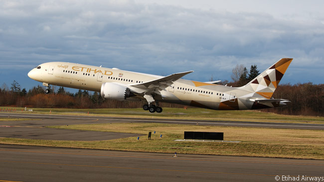 Etihad Airways has 41 Boeing 787-9s on order and a further 25 on option. It has also ordered 30 Boeing 787-10s and optioned 12 more