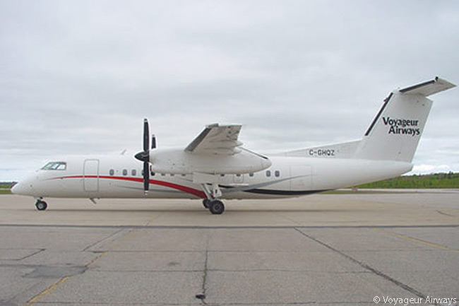 Based in North Bay, Ontario, specialist operator Voyageur Airways offers a number of Bombardier Dash 8-300 turboprop regional airliners for charter and wet-lease contracts