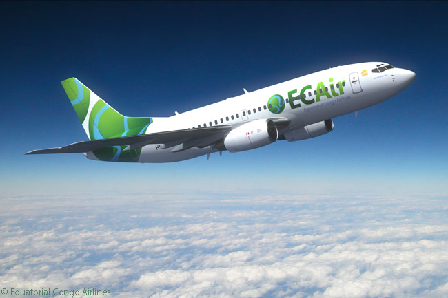 Operating as ECAir, Equatorial Congo Airlines boasted a fleet comprising two Boeing 737-300s, one 737-700 and two Boeing 757-200 as of early 2015. Swiss ACMI and charter carrier PrivatAir operates all of ECAir's flights using PrivatAir-owned aircraft