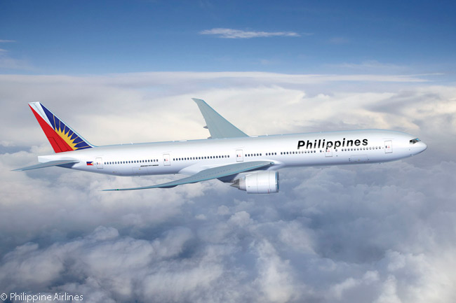 PAL's president and COO Jaime Bautista says the carrier may replace its Boeing 777-300ERs with Boeing 777Xs or Airbus A350 XWBs one day, because these aircraft can operate very long  routes such as Manila-New York non-stop, whereas the A340-300s and 777-300ERs ‒ one is shown here ‒ now in its fleet need an intermediate tech stop to refuel