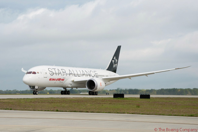 On March 31, 2015, Air India took delivery of its 20th of 27 Boeing 787-8s on order from the manufacturer. The aircraft, which was assembled at and delivered from Boeing's second 787 assembly line at North Charleston in South Carolina, was the first 787 to wear the official livery of the Star Alliance. Air India is a Star Alliance member