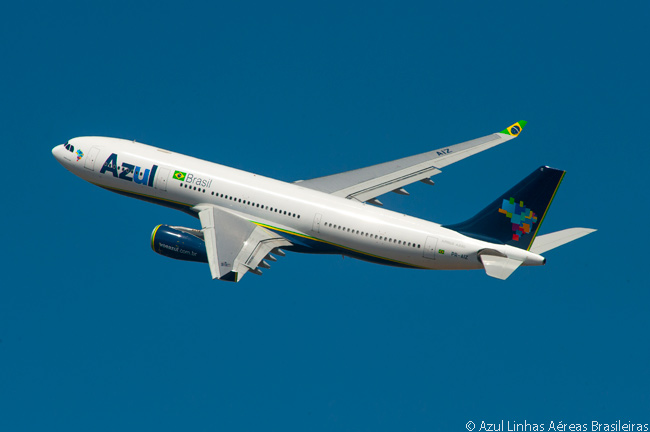 Azul Linhas Aéreas Brasileiras, also known as Azul Brazilian Airlines, began long-haul international services in December 2014 with a fleet of five leased Airbus A330-200s