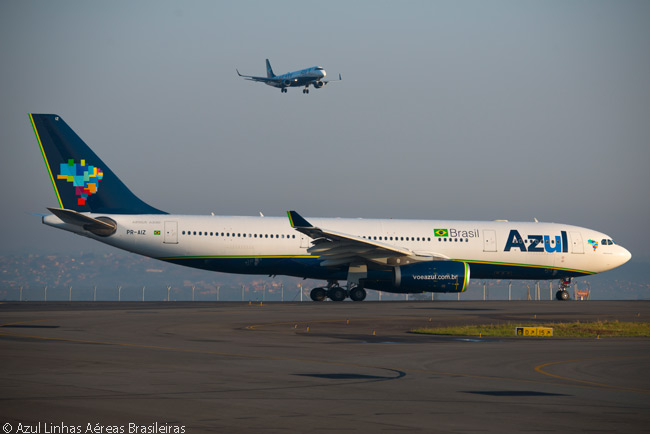 Operating a fleet that is set to grow to more than 250 aircraft by the early 2020s, Azul Linhas Aéreas Brasileiras operates a variety of aircraft types. Until 2017, the largest of them is the Airbus A330-200, but in that year Azul will take delivery of the first of five Airbus A350-900s it has agreed to lease