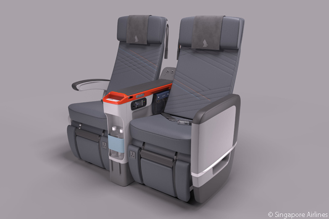 Each Singapore Airlines Premium Economy seat has a pitch of 38 inches and offers eight inches of recline. Seat width is either 18.5 inches or 19.5 inches, depending on aircraft type