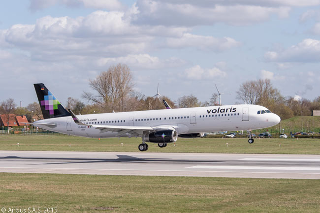 Mexican low-cost carrier Volaris took delivery of its first two Airbus A321s in May 2015, becoming the first Mexican airline to operate the A321
