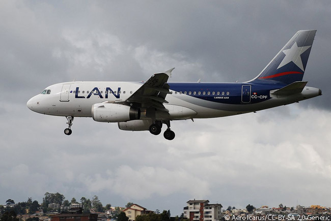 CC-CPF is one of many Airbus A319s operated by Chile's LAN Airlines and its subsidiaries in Argentina, Colombia. Ecuador and Peru