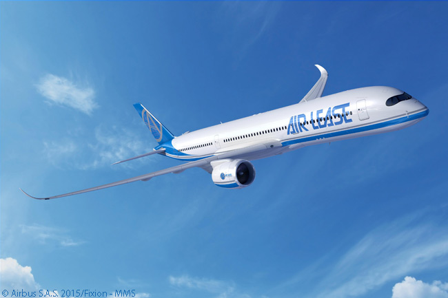 On June 15, 2015, at the Paris Air Show, Los Angeles-based Air Lease Corporation announced it had ordered another Airbus A350-900, along with three more A320s and another A321