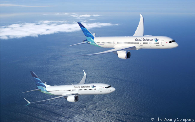 On June 15, 2015, Garuda Indonesia signed a letter of intent for 30 Boeing 787-9s and up to 30 Boeing 737 MAX 8 jets at the Paris Air Show. It also signed a letter of intent for 30 Airbus A350 XWBs at the show on the same day