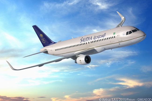 Along with its launch order for 20 Airbus A330-300 Regional widebodies, Saudi Arabian Airlines ordered another 30 Airbus A320s at the Paris Air Show on June 15, 201