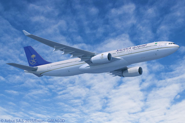 On June 15, 2015, at the Paris Air Show, Saudi Arabian Airline announced an order for 20 Airbus A330-300 Regional widebodies, making it the launch customer for the model and subsequently the first airline in the world to operate the new Airbus A330-300 Regional