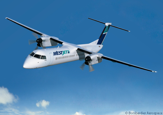 On June 15, 2015, at the Paris Air Show, Bombardier Aerospace announced that WestJet Encore had placed a new order for five Q400 turboprop regional airliners and in March 2015 had placed an order for another. The aircraft was listed until June 2015 as being for an undisclosed customer. The orders took WestJet Encore's total orderbook for the Bombardier Q400 to 46 aircraft