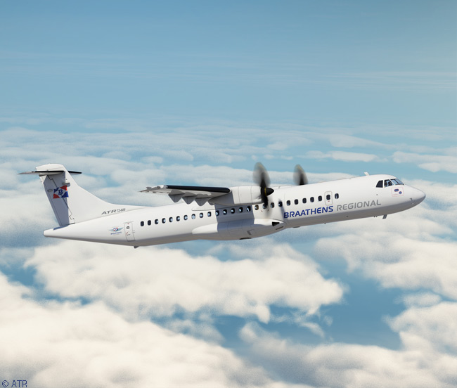 Swedish regional carrier Braathens Aviation, which operates as Braathens Regional on domestic routes, announced an order for five ATR 72-600s at the Paris Air Show on June 16, 2015, and optioned 10 more
