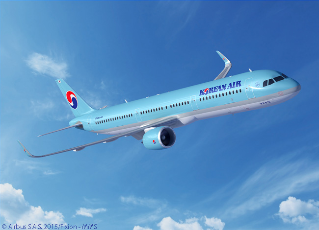 On June 16, 2015, Korean Air signed a memorandum of understanding at the Paris Air Show to order 30 Airbus A321neo jets and option 20 more. On the same day, also at the show, Korean Air signed a commitment with Boeing envisaging a firm order for 30 Boeing 737 MAX jets and options on 20 more, as well as a top-up order for two more 777-300ERs to add to 18 already in service or on order
