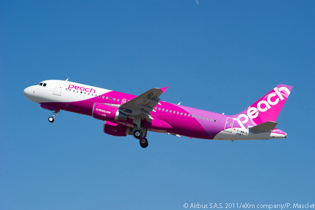 Peach Aviation, a Japanese low-cost airline based at Osaka's Kansai International Airport, placed an order for three Airbus A320s at the Paris Air Show on June 16, 2015. The order was all-A320 operator Peach Aviation's first direct purchase of new aircraft from the manufacturer