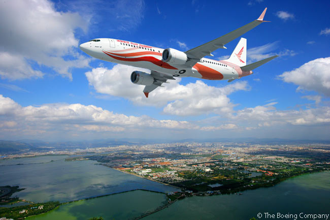 Chinese carrier Ruili Airlines announced on June 16, 2015 at the Paris Air Show that, with the financial support of AVIC International Leasing, it had committed to order 30 Boeing 737 MAX jets. Kunming-based Ruili Airlines operates only Boeing 737s
